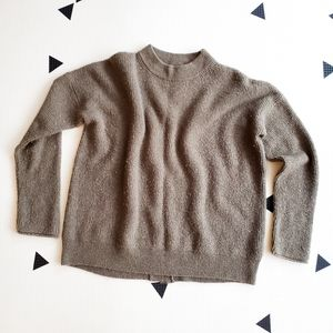 Point Sur Button-Back Sweater in Waffled Supersoft